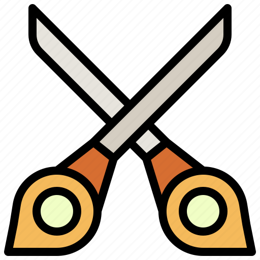 and, cut, cutting, handcraft, scissors, tools, utensils icon