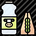 food, lunch, restaurant, sandwich, tray icon