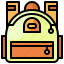 backpack, baggage, bags, luggage, travel icon