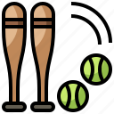 baseball, bat, competition, glove, sport, sports, team icon