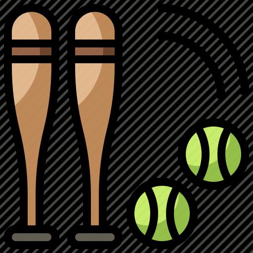 baseball, bat, competition, glove, sport, sports, team icon