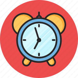 alarm clock, back to school, education, morning routine icon