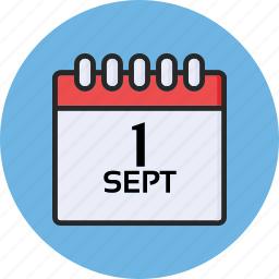 back to school, calendar, education, first september icon