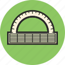 angle ruler, back to school, geometry, study icon