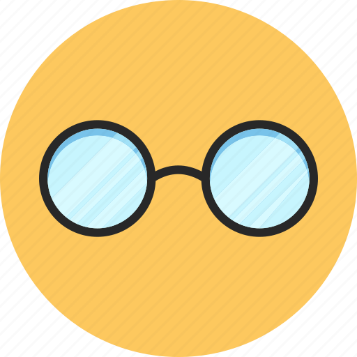 back to school, glasses, office look, study icon