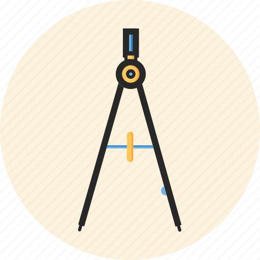 back to school, compasses, education, study icon