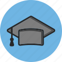 back to school, education, graduation cap, study icon