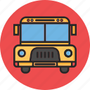 back to school, school bus, study, transport icon