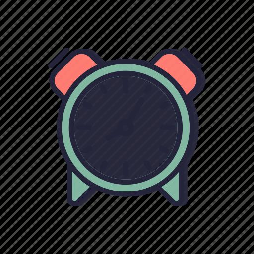 alarm, back, clock, line, school, thin icon