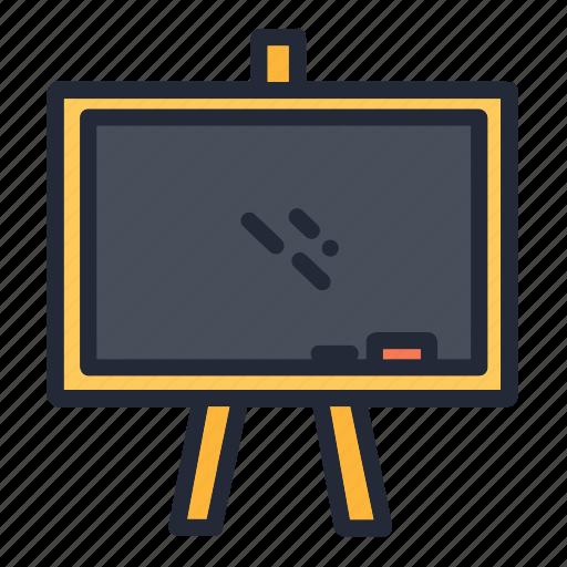 blackboard, board, chalk, education, educational, school, supplies icon