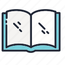 book, education, educational, notebook, open, school, supplies icon