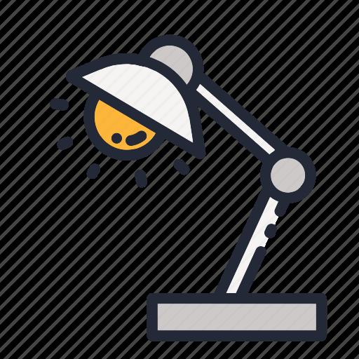 education, educational, lamp, light, night, school, study icon