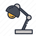 education, educational, lamp, light, night, school, study icon