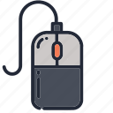 computer, education, educational, mouse, school, supplies, technology icon