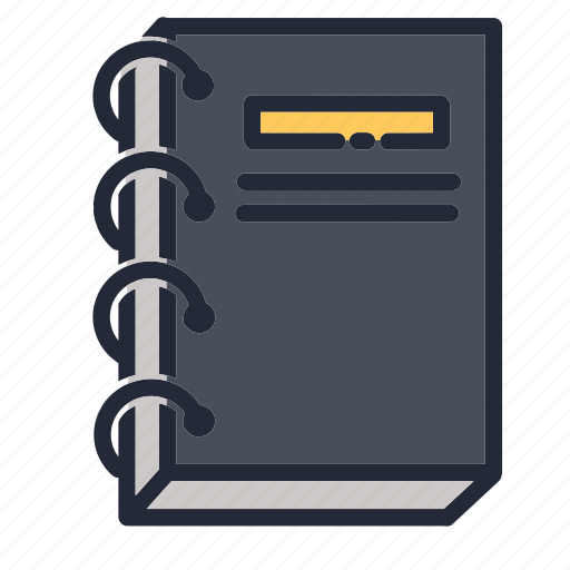 book, education, educational, note, notebook, school, supplies icon