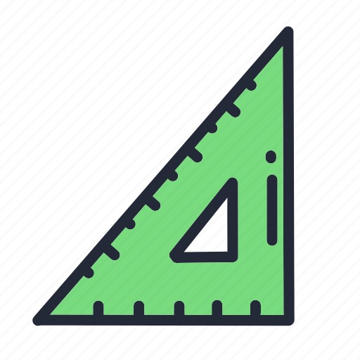 education, educational, math, measure, ruler, school, supplies icon