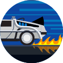 car, delorean, fast, fire, transport, transportation, vehicle