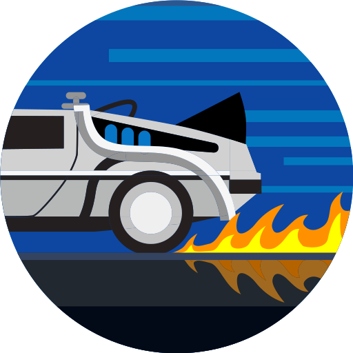 car, delorean, fast, fire, transport, transportation, vehicle icon