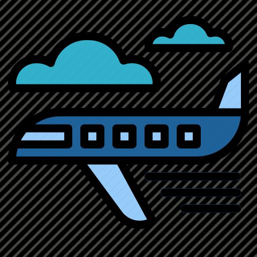 Airplane, flight, transport, travel icon - Download on Iconfinder