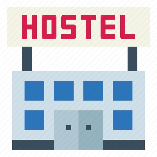 buildings, holidays, hostel, vacations icon