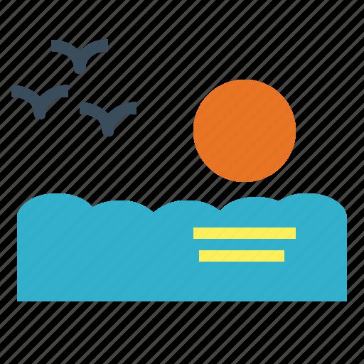 Landscape, sea, sunset, weather icon - Download on Iconfinder