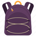 backpack, backsack, hiking bag, tourist bag, travelling bag icon