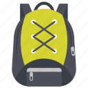 backpack, hiking bag, knapsack, tourist bag, travelling bag icon