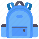 backpack, hiking, rucksack, school bag, travelling bag icon