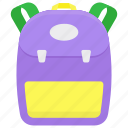 backpack, bag, baggage, sackpack, travel bag icon