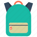 back to school, backpack, rucksack, sackpack, school bag icon