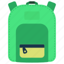 back to school, backpack, bag, bookbag, school bag icon