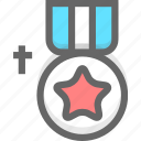 achievement, bronze, medal icon