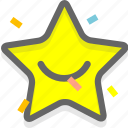 like, recommend, smiley, star icon