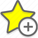 favorites, like, star icon