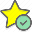 choice, like, recommend, star icon