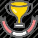 achievement, medal, success, win icon
