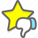 negative, poor, rate, rating icon