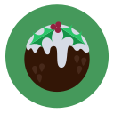 christmas, dessert, food, fruit cake, pudding icon
