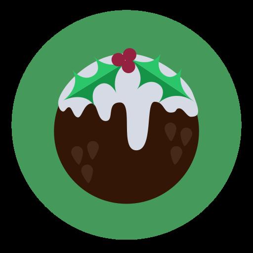 christmas, dessert, food, fruit cake, pudding icon