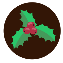 christmas, decoration, holly, plant icon