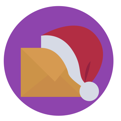 christmas, contact, mail, santas letter icon