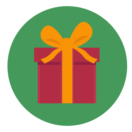 box, christmas, gift, present, wrapped icon