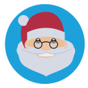 christmas, father christmas, saint nick, santa icon