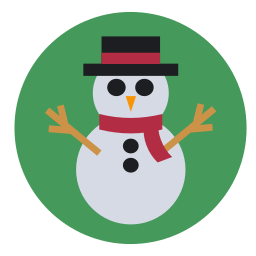 christmas, cold, frosty, frozen, snowman icon