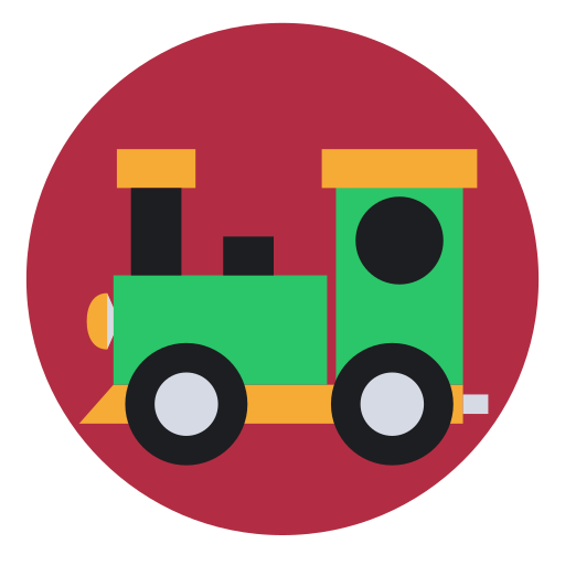 christmas, gift, present, toy, train icon