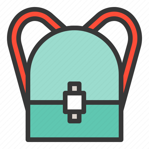 backpack, bag, fashion, woman icon