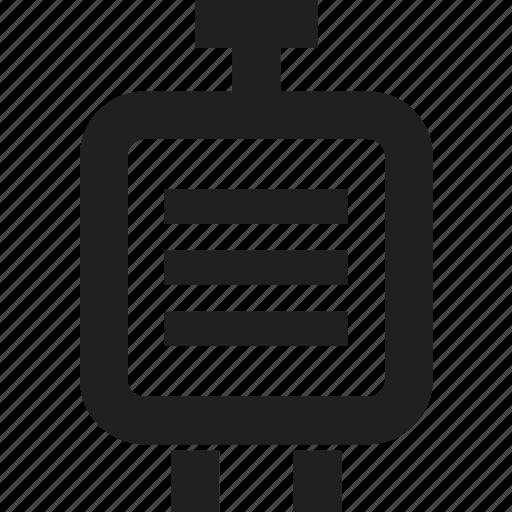 bag, design, line, travel, web icon