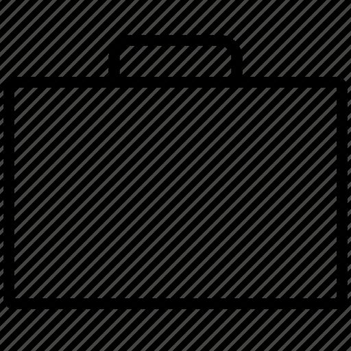 bag, blank, briefcase, case, empty, line, suitcase icon