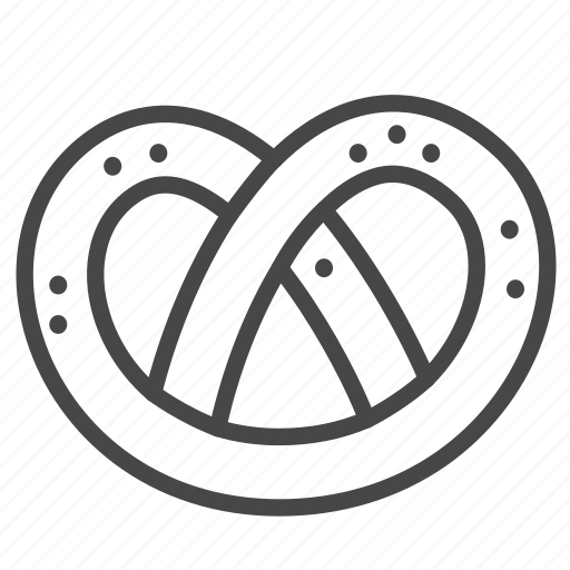 bakery, bread, food, meal, pretzel, twisted icon