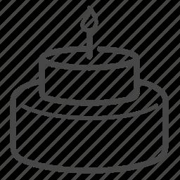 bakery, birthday, cake, cream, dessert, sweet icon